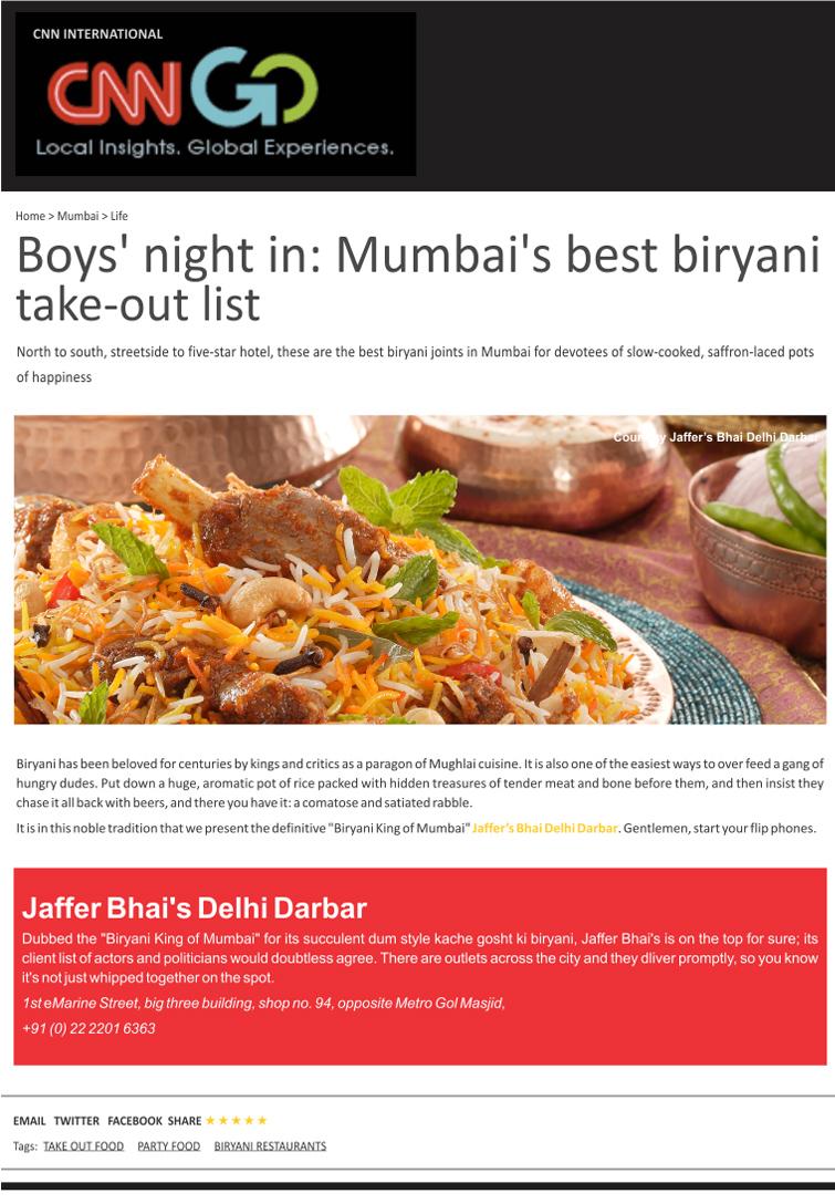 CNN International - CNN Go - Jaffer Bhai's Delhi Darbar