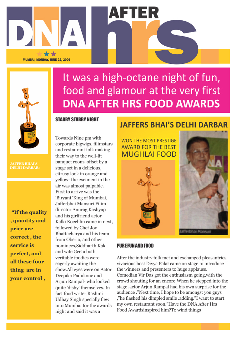 DNA After Hrs - Jaffer Bhai's Delhi Darbar